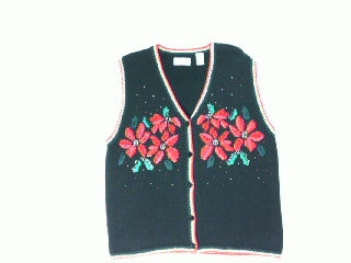 Oh What  A Poinsetta-Large Christmas Sweater