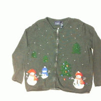 Snowman Tree Lighting-Medium Christmas Sweater