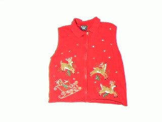 Reindeer Round Up-Medium Christmas Sweater