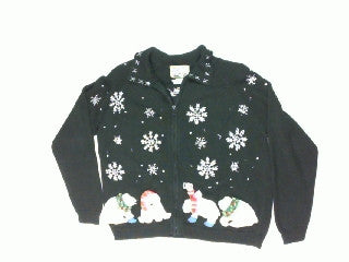 Polar Snow Catch-Medium Christmas Sweater