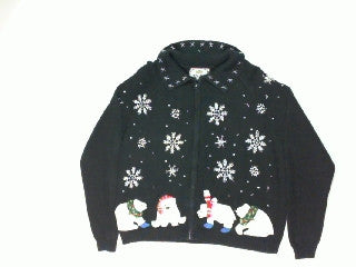 Polar Snow Catch Two-Medium Christmas Sweater