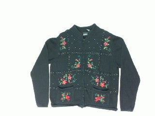 Flowers and Lace-Medium Christmas Sweater