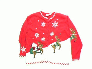 Snow Take Off For Delivery-Large Christmas Sweater