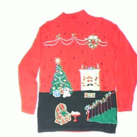 Dangling Santa-Small Christmas Sweater