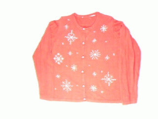 Sparkling Snowflake-Large Christmas Sweater
