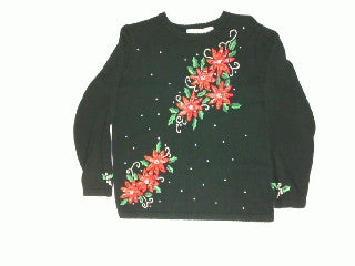 Poinsettia Power-Large Christmas Sweater