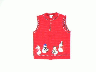 Snowman In The Wild-XSmall Christmas Sweater