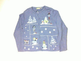 Purple Peaks-Medium Christmas Sweater