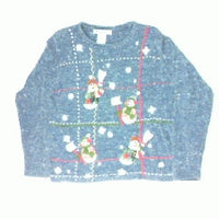 Shoveling Snowmen-Small Christmas Sweater