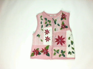 Poinsettias Threw Up On My Sweater-Small Christmas Sweater