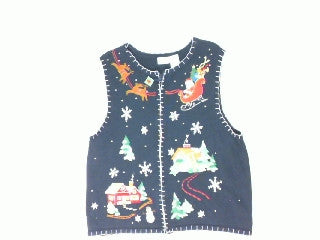 Up In The Sky Oh My-Large Christmas Sweater