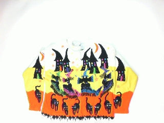 Annual Broom Ride-Small Halloween Sweater