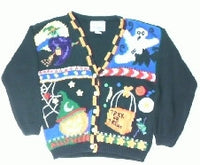 Trick or Treats Witchy Treats-Small Halloween Sweater