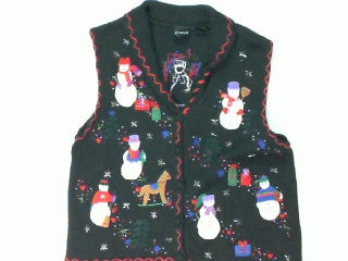 Snowmen Rocking It Out-Small Christmas Sweater