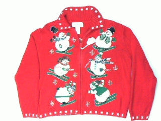 No Ski Like Snow Ski-Large Christmas Sweater