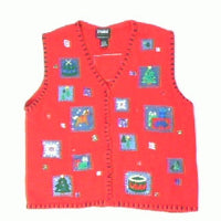 One Square Christmas-Medium Christmas Sweater