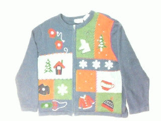 Warm Winter Wear-Large Christmas Sweater