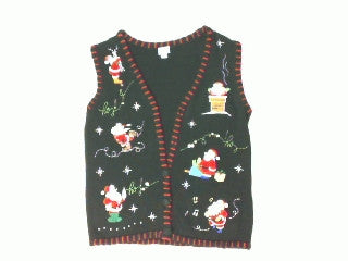 Santa Getting Busy-Small Christmas Sweater