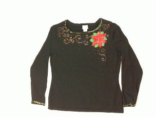 Exploding Poinsettia-Small Christmas Sweater