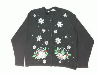 Is There Water in That Snow Globe-Large Christmas Sweater
