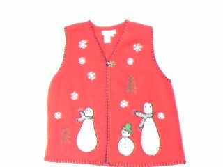 Let It Snow Man-Small Christmas Sweater
