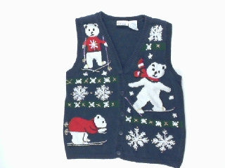 Ski Lessons If You Please-X Small Christmas Sweater