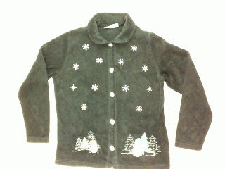 Falling Snowflakes in the Sky-Small Christmas Sweater
