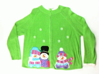 Snow Light Snow Bright-Large Christmas Sweater