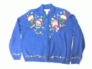 Light Up My Life  Frosty-Large Christmas Sweater