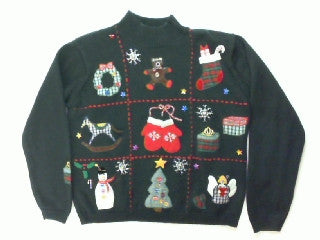 Tic Tac Toe-Small Christmas Sweater