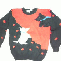 Polka Do Puppy Play-Large Christmas Sweater