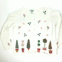 Topiary Swirls-Medium Christmas Sweater