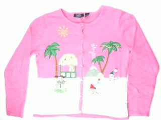 Melt Me On The Beach-Medium Christmas Sweater