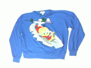 Tweetin Sled Ride-Large Christmas Sweater
