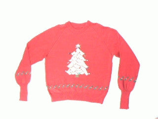 Frosted White Tree-Small Christmas Sweater
