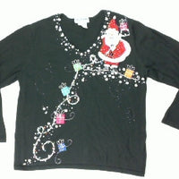Follow The Trail To the Jolly Man-Large Christmas Sweater