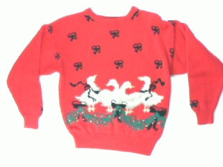Geese A Gathering-Small Christmas Sweater