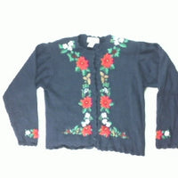 Ring Around the Poinsettia-Small Christmas Sweater