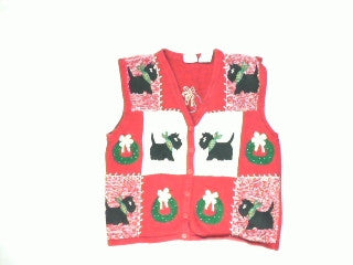 Your Scottie is Wearing Your Wreath-Medium Christmas Sweater