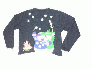Melt My Heart By The Night Fire-Large Christmas Sweater