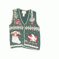 Bring Out the Burgundy-X Small Christmas Sweater