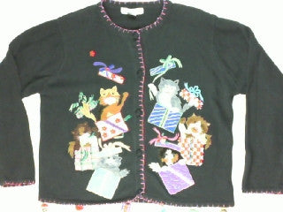 Pop Goes The Kitty-Large Christmas Sweater