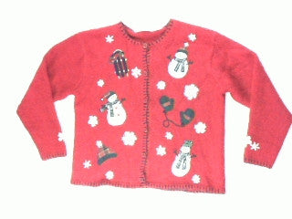 Outdoor  Winter Fun-Medium Christmas Sweater