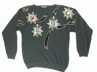 Gem Flowers-Large Christmas Sweater