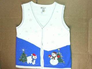 Polar Bear or Snowman Place Your Bet-Small Christmas Sweater