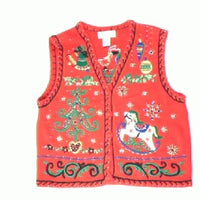 Rocking Swirliin Holiday  Fun-Small Christmas Sweater