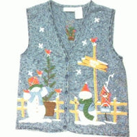 North Pole Greetings-Small Christmas Sweater