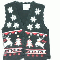 Leaping  Reindeer-Small Christmas Sweater