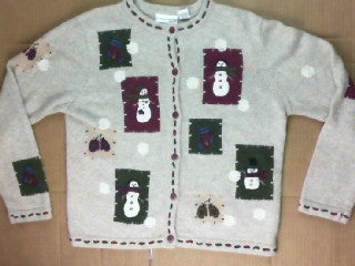 Patch The Snowman-Small Christmas Sweater
