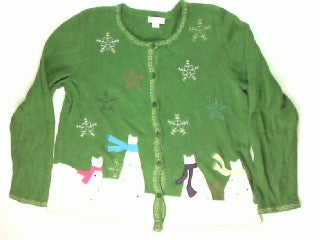 Snowman or Snowcats-Medium Christmas Sweater